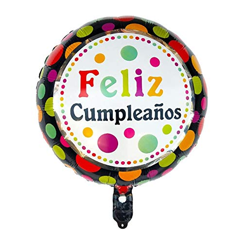 Read About Xucus 50pcs 18inch Spanish Happy Birthday Party Decoration Foil Balloons Feliz Cumpleanos...