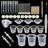 Woohome 66 Stück Silikonform Gießform Resin Form Schmuck Werkzeug, Silikon Schmucksache Herstellungs Werkzeug Kompatibel mit Silikon Form, Schmucksachen DIY