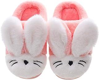 Lvptsh Chausson Enfant Fille Gar/çon Pantoufle B/éb/é Hiver Chaussures de Maison Antid/érapants Chaudes en Peluche