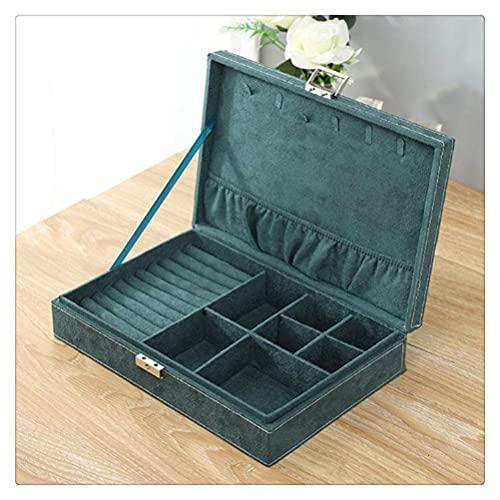 JIANGCJ Bonita caja de almacenamiento organizadora de joyas, forro suave para guardar anillos, pendientes, pulseras o relojes