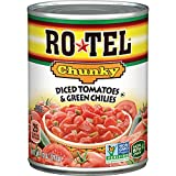 ROTEL Chunky Diced Tomatoes and Green Chilies, 10 Ounce, 12 Pack
