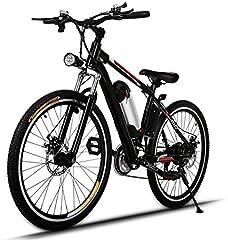 AMDirect Bicicleta eléctrica de 26 pulgadas, bicicleta montañera con batería de litio extraíble (250 W, 36 V) y cargador inteligente, Schwarz2