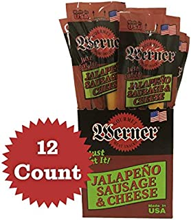 Sausage Cheese Beef Jerky Protein Meat Snack from Tillamook OR 12 pack (Jalapeno) 1.3lb hunters camping hiking
