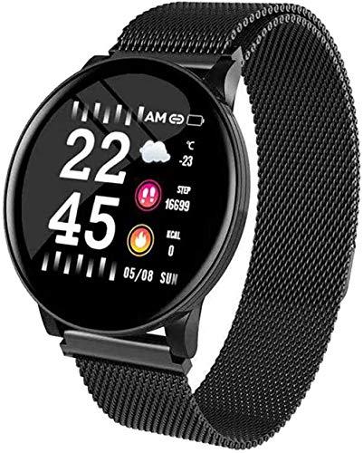 JSL Reloj inteligente de 3 pulgadas con monitor de frecuencia cardíaca, reloj inteligente para hombres, podómetro, pulsera de fitness