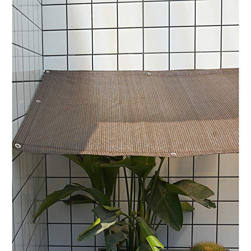 YLL Filet d'ombrage, Tissu d'ombrage Rectangulaire, Filet Anti Chaleur, Auvent Anti-Insectes Anti-UV, Tissu Non Tissé Perméable, pour Terrasses, Pelouses, Jardins, Marron,1x1m(3 * 3ft)