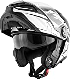 Givi - Casco modular X.23 Sydney Viper Eclipse Gráfico X23F XL ECLIPSE GLOSS BLACK/WHITE