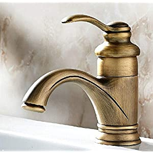BWE European Style Single Handle Bathroom Antique Brass Mixer Faucet for Vanity Sink