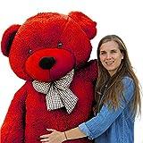 AVSHUB Soft Hugable Spongy Cute Giant Life Size Teddy Bear,Red (6 Feet)