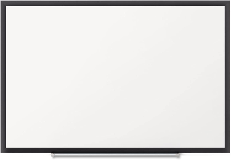 Quartet SM533B Magnetic Dry-Erase Board, 3'x2', Black Aluminum Frame