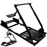 Minneer Racing Wheel Stand Racing Simulator Steering Wheel Stand Compatible for T500, FANTEC, T3PA/TGT, G25, G37, G29/T300RS Without Wheel、Pedals and seat.