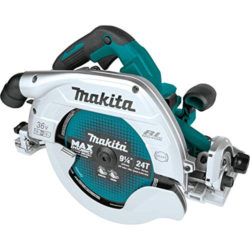"""Makita XSH10Z 18V X2 LXT Lithium-Ion (36V) Brushless Cordless 9-1/4"""" Circular Saw with Guide Rail Compatible Base, AWS Capable, Tool Only"""