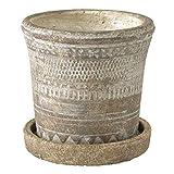 SPICE OF LIFE(スパイス) 植木鉢 オリンポスプランター ブラウン Sサイズ 直径13cm 高さ12.5cm CCGK1911