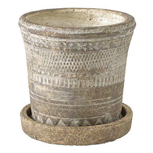 SPICE OF LIFE(スパイス) 植木鉢 オリンポス プランター ブラウン Sサイズ 受け皿付き 底穴あり 直径13cm 高さ12.5cm CCGK1911