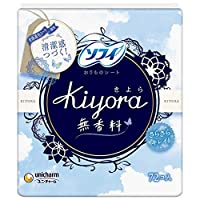 ソフィ Kiyora 無香料 72コ入(unicharm Sofy)×12個