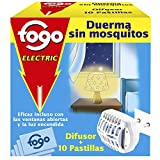 Fogo AntiMosquitos Aparato eléctrico y pastillas para insecticida mata mosquitos - Aparato y 10 pastillas