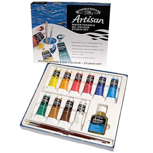 Winsor & Newton 1590252 Artisan wassmischbare Ölfarbe - Ölfarbenset, hohe Pigmentkonzentration, gute Deckkraft & Lichtechtheit - Studio Set