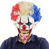 XKSMJ Explosive tête Grande Bouche Longue Clown Langue Masque Halloween Couverture...