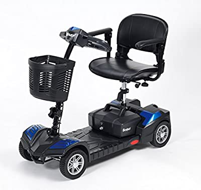 Drive DeVilbiss Scout 12 Amp Mobility Scooter Lightweight Folding 4 Wheel Electric Scooters for Adult