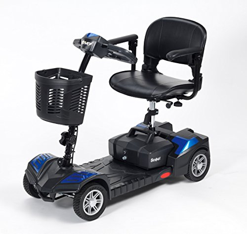 Drive DeVilbiss Scout Elektro-Scooter, 12 A, leicht, zusammenklappbar, 4 Räder, für Erwachsene