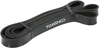 TOMSHOO Bandas Elásticas 208cm Banda Resistencia para Ejercicio Yoga Fitness Pilates o Terapia Física(Negro)