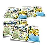 Pegatinas rectangulares de vinilo (juego de 4) – Frejus Town Francia – Pegatinas divertidas para ordenadores, tabletas, equipaje, reserva de chatarra, frigoríficos #45072
