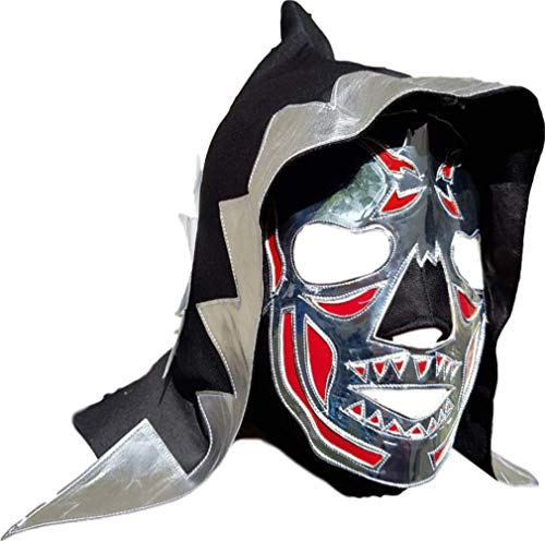 Luchador Maske Erwachsenengröße Lucha Libre mexikanisches Wrestling-Kostüm Pro-Fit Lycra Maske (wählen Sie Design) -  mehrfarbig -  Einheitsgröße