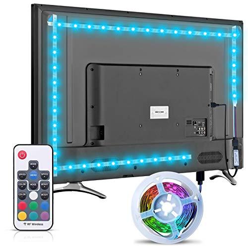 Striscia LED TV Retroilluminazione, Hoobabuy 3m 9,8 Piedi Striscia LED Alimentata Tramite USB con Telecomando RF, Striscia LED 5050 RGB per HDTV da 40-60 Pollici, Monitor per PC