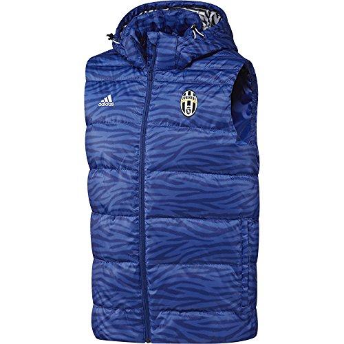 adidas Juve Daunen Weste–Weste der Line Juventus für Herren, Farbe Blau/Weiß, Größe S Azul/Blanco (Azuint/Blanco)