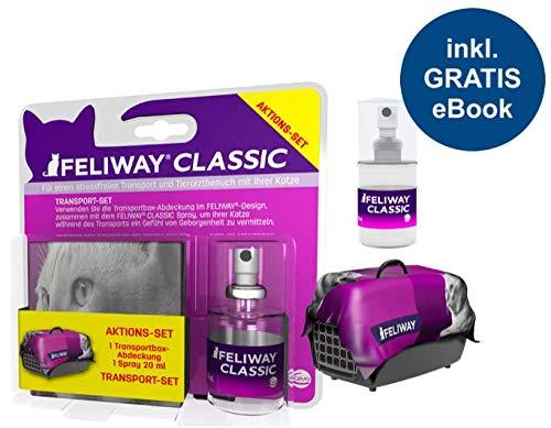 Feliway Classic Transport-Set (Spray 20ml + Transportboxabdeckung) inkl. Katzen-Wohlfühlguide von Tierglück24