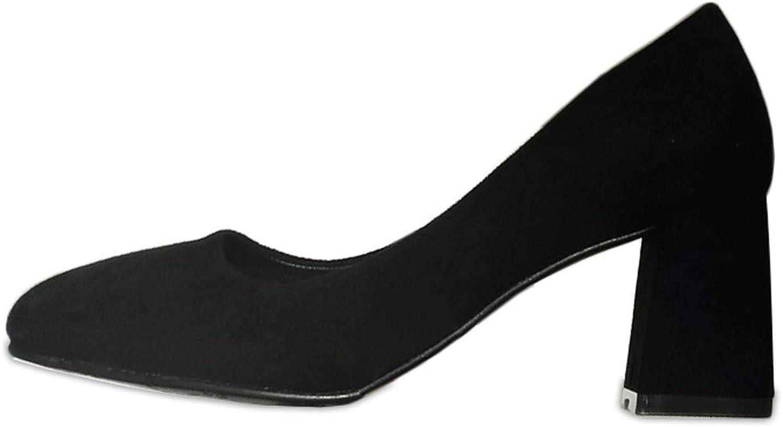 LBTSQ-Runde LBTSQ-Runde LBTSQ-Runde Kopf flach Mund Hochhackigen Schuhe 7cm Absatz Mode Schuhe.  579544