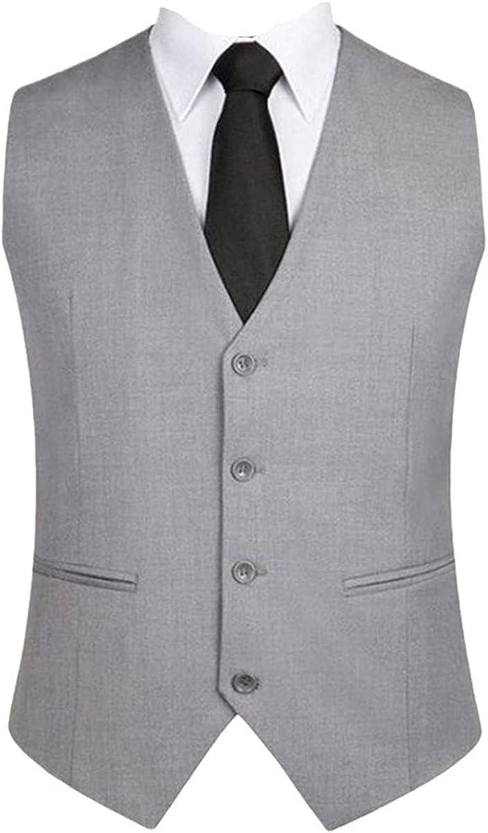 Men's formal vest solid color single-breasted slim suit vest