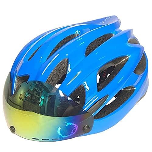 Casco de bicicleta inteligente, casco de bicicleta inteligente Bluetooth, casco de bicicleta con luz de seguridad y visera de protección, recargable, 8 horas de trabajo continuo (norma CE UE)