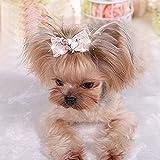 KRexpress Rhinestone Dog Hair Bow