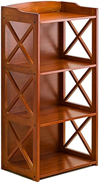 Bookcase Bookshelf Storage Rack Simple Modern Solid Wood Multi Storey Floor Display Cabinet Brown 42 29 86CM Stand Up Bookcase Color Brown Size 422986cm