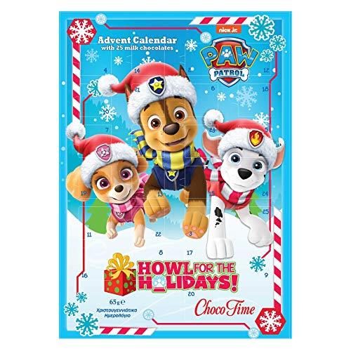 Design für Paw Patrol Adventskalender 2019 mit 25 Schokotäfelchen (Howl For The Holidays)