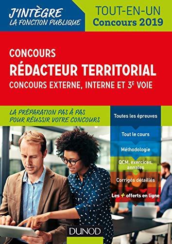 Concours Rédacteur territorial. Externe, interne et 3e voie. - Tout en un - Concours 2019