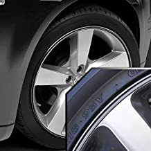 Upgrade Your Auto Wheel Bands Silver in Black Pinstripe Edge Trim for Chrysler 300 13-22