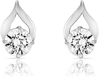 Mahi with Swarovski Zirconia Rhodium Plated Delicate Drop Stud Earrings for Women ER1105022R