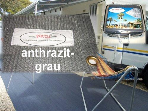Yaccu Hochwertiger VORZELTTEPPICH 7 x 3m anthrazit-grau