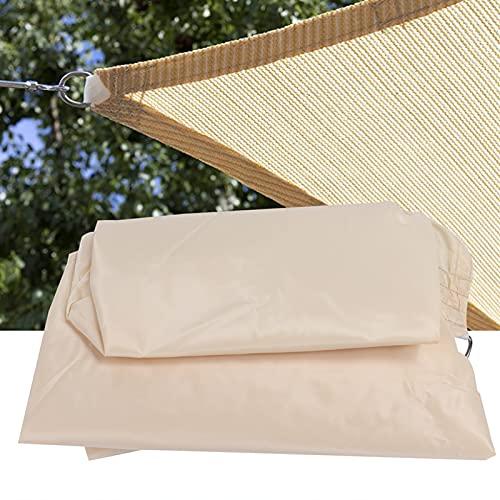 FOLOSAFENAR Parasol Triangular Canoy, toldo portátil de jardín Canoy para Verano(Cream Color, 5 * 5 * 5m Equilateral Triangle)