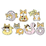 FITYLE 7 unids/Set Novedad Broche alfileres suéter Clips Vestidos Vintage Cuello cárdigan Dibujos Animados Cachorro Estilo para Mujeres niñas