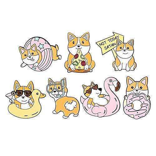 joyMerit 1Set Cute Broche Pins Vestidos Cardigan Tipo de Cachorro de Dibujos Animados