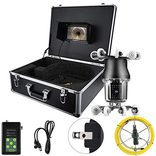 LXYPLM Cámara Vigilancia LCD Cámara Endoscópica 7in 50m 360 ° Alcantarillado Endoscópico Industrial IP68 38LED Inspección Tubo De Drenaje Cámara De Borajos 100-240V