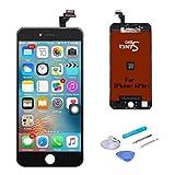 SANKA LCD Pantalla Táctil con Marco de Digitalización Asamblea Pantalla de Recambio para iPhone 6 Plus (5.5') - Negro
