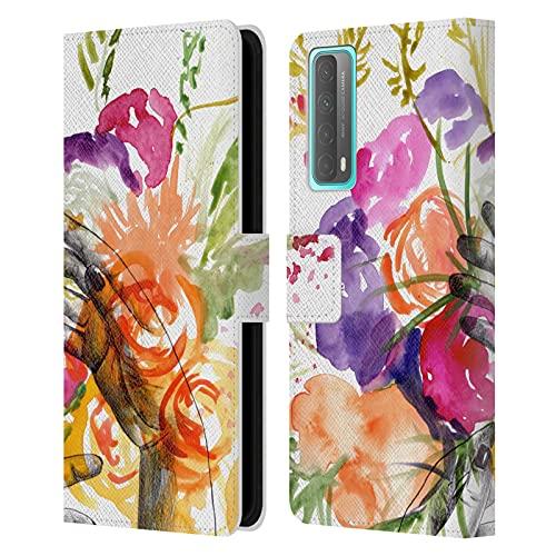 Head Case Designs Licenciado Oficialmente MAI Autumn Soñando con la Primavera Jardín Floral Carcasa de Cuero Tipo Libro Compatible con Huawei P Smart (2021)