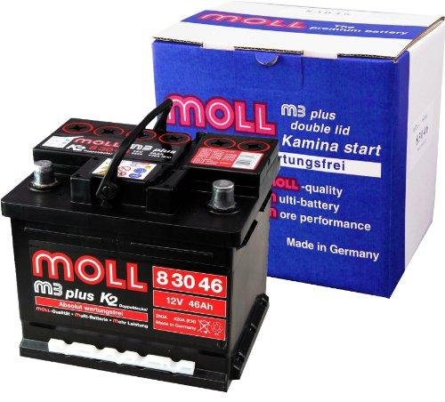 Moll M3 Plus K2 Doppeldeckel 83046 46Ah (420A Kälteprüfstrom)