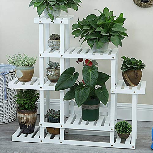 Plant Stand Houten Tuin Balkon Plank Ladder Display Bodem Zorg Frame Schaal Lange tijd Pine Hout Pijnboom Hout