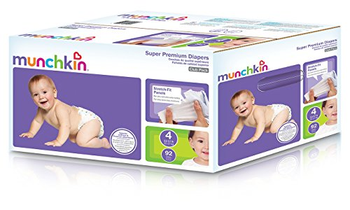 Munchkin Super Premium Diapers, Size 4/Large Ultra (22-37 Pounds), 92 Count by Munchkin
