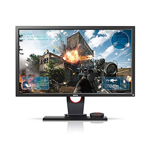 Monitor Gamer BenQ Zowie XL2430 de 24' 144Hz, Conexão Display Port, Lag-Free, Black Equalizer, S-Swtich, Low Blue Light e Ajuste de Altura, Grafite Fosco