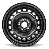 Road Ready Car Wheel For 2016-2019 Chevrolet Cruze 15 Inch 5 Lug Black Steel Rim Fits R15 Tire - Exact OEM Replacement - Full-Size Spare